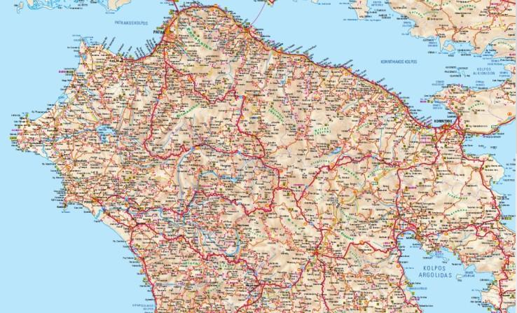 Pelopones mapa