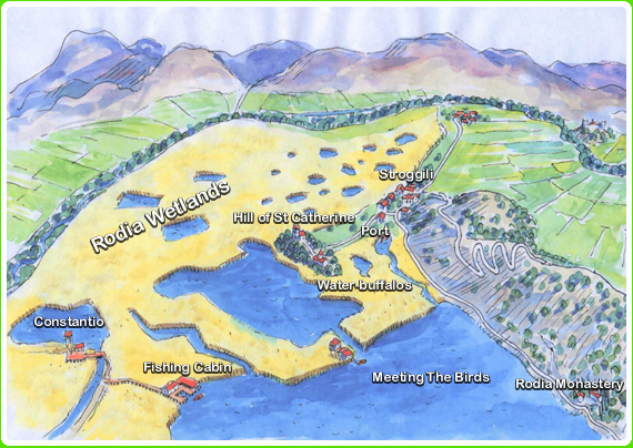 Rodia wetlands map